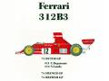 ** 再生産 ** HIRO K246 1/20 Ferrari 312B3 Ver.B 1974 Dutch /French /British GP