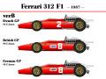 ** 再生産 ** HIRO K273 1/20 Ferrari 312F1 1967 Ver.B French /British /German GP