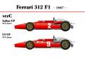 HIRO K274 1/20 フェラーリ 312F1 Italia/US GP 1967