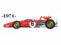 ** 再生産 ** HIRO K305 1/20 Ferrari 312B 1967 Ver.B 1971 South African GP