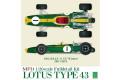 【お取り寄せ商品】 HIRO K316 1/20 Lotus 43 1966 Italian GP / U.S. GP