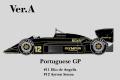 ** 予約商品 ** HIRO K346 1/12 Lotus 97T ver.A 1985 Rd.2 Portuguese GP