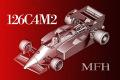 HIRO K444 1/43 フェラーリ 126C4M2 1984 Rd.15 European GP #27 M.Alboreto / #28 R.Arnoux