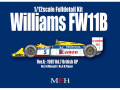 【お取り寄せ商品】 HIRO K472 1/12 Williams FW11B Ver.A 1987 Rd.7 British GP #5 N.Mansell / #6 N.Piquet