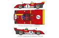 HIRO K587 1/12 フェラーリ 312PB Ver.A 1972 Monza 1000km /Spa /Targa Florio /Nurburgring /Austria