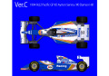 HIRO K620 1/43 ウィリアムズ FW16 1994 Rd.2 Pacific GP #2 A.Senna / #0 D.Hill