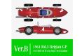 ** 予約商品 ** HIRO K643 1/12 フェラーリ 156 SHARK NOSE ver.B 1961 Rd.3 Belgian GP #4 P.Hill / #2 W.von.Trips / #6 R.Ginther
