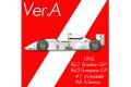 HIRO K659 1/12 マクラーレン MP4/8 ver.A 1993 Brazilian GP /European GP #7 M.Andretti / #8 A.Senna