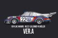 ** 予約商品 ** HIRO K713 1/12 Porsche 911 Carera RSR Turbo Ver.A 1974 LM 2nd No.22