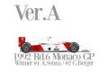 【お取り寄せ商品】 HIRO K718 1/12 McLaren MP4/7 Ver.A 1992 Rd.6 Monaco GP Winner