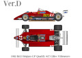 ** 再入荷待ち ** HIRO K768 1/43 Ferrari 126C2 Ver.D 1982 Rd.5 Belgian GP Qualify #27 G.Villeneuve