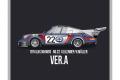HIRO K770 1/43 Porsche 911 Carrera RSR Turbo Ver.A Le Mans 1974 2nd No.22