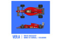 HIRO K783 1/43 Ferrari F1-89 (640) Ver.A Early Type 1989 Rd.1 Brazilian GP Winner