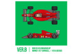 HIRO K784 1/43 Ferrari F1-89 (640) Ver.B Late Type 1989 Rd.10 Hungarian GP Winner