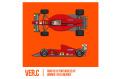 HIRO K785 1/43 Ferrari F1-89 (640) Ver.C Late Type 1989 Rd.13 Portuguese GP Winner