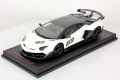MR collection  LAMBO34B 1/18 Lamborghini Aventador SVJ Bianco Phanes Special Edition
