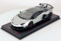 MR collection  LAMBO34G 1/18 Lamborghini Aventador SVJ Grigio Adamas with Matt Carbon Roof
