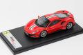 ** 再入荷待ち ** LOOKSMART LS488A Ferrari 488 Pista Rosso Corsa