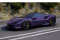 ** 予約商品 ** LOOKSMART LS503SE8 1/43 Ferrari F8 Toributo Viola Hong Kong / Black roof