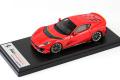 ** 予約商品 ** LOOKSMART LS530E 1/43 Ferrari 812 Competizione Rosso Scuderia / Yellow Lines