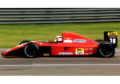 ** 予約商品 ** LOOKSMART LSF1H13 1/18 フェラーリ 643 Germany GP 1991 J.Alesi 3rd (ケース付)