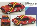 MINI Racing 341 フォード Escort RS2000 Rouergue Rally 80 Auriol n.61