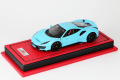 MR collection 1/43 Ferrari 488 Pista Baby Blue Limited 10pcs