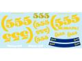 MSMクリエイション D013 1/24 スバル インプレッサ 555 デカール for Hasegawa 【メール便可】