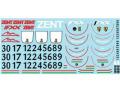 MSMクリエイション D063 1/18 フェラーリ FXX デカール (M.シューマッハ / Pearl white ZENT FXX)【メール便可】