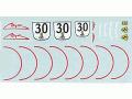 MSMクリエイション D096 1/43 フェラーリFXX N.30デカール【メール便可】