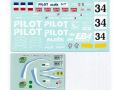 MSMクリエイション D194 1/24 フェラーリ F40LM 1995 Le Mans Pilot デカール 【メール便可】