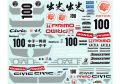 MSMクリエイション D233 1/24 Honda Civic EG6/EF9 Idemitsu Motion デカール 【メール便可】