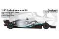 NewScratch 43F19N4477Rd1 1/43kit F1 W10 2019 n.44/77 Rd.1 Australian GP