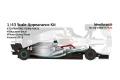 NewScratch 43F19N4477Rd6 1/43kit F1 W10 2019 n.44/77 Rd.6 Monaco GP