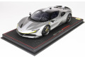 ** 予約商品 ** BBR P18180RAV 1/18 Ferrari SF90 Stradale Metallic Silver -racing version Limited 150pcs (ケース付)