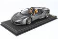 ** 予約商品 ** BBR P18183F1V 1/18 Ferrari F8 Spider Silverstone Grey Limited 28pcs (ケース付)