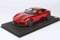 ** 予約商品 ** BBR P18185CV 1/18 Ferrari Roma Rosso Portofino (ケース付)