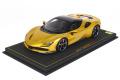 ** 予約商品 ** BBR P18196AV 1/18 Ferrari SF90 Spider (closed roof) Giallo Montecarlo Limited 24pcs (ブラックルーフ)(ケース付)
