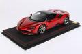 ** 予約商品 ** BBR P18196DV 1/18 Ferrari SF90 Spider (closed roof) Rosso Fuoco Limited 30pcs (ブラックルーフ)(ケース付)