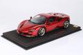 ** 予約商品 ** BBR P18196D1V 1/18 Ferrari SF90 Spider (closed roof) Rosso Fuoco Limited 30pcs (ルーフ同色)(ケース付)
