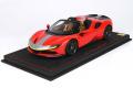 ** 予約商品 ** BBR P18198C1V 1/18 Ferrari SF90 Spider Pack Fiorano Rosso Corsa Limited 24pcs (ケース付)