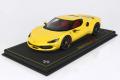 ** 予約商品 ** BBR P18210C1V 1/18 Ferrari 296GTB Giallo Modena /Carbon Replica Wheels (ケース付)