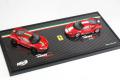 ** 再入荷待ち ** BBR RACE-70 1/43 Ferrari 488 Pista (Rosso Fuoco) / Piloti (Rosso corsa) set Lmited 20pcs