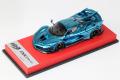 BBR RACE43-79 Ferrari FXX K Evo Chrome Blue (Red leather Base) Limited 10pcs