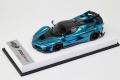 BBR RACE43-80 Ferrari FXX K Evo Chrome Blue /Carbon roof  (White leather Base) Limited 10pcs