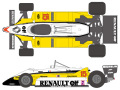 SHUNKO D233 1/20 Renault RE30B 1982 decal set (for Tamiya) 【メール便可】