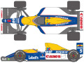 SHUNKO D248 1/12 Williams FW14B decal set (for Tamiya)
