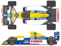 SHUNKO D287 1/20 Williams FW13B 1990 decal set (for Tamiya) 【メール便可】