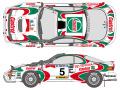 SHUNKO D345 1/24 カストロール セリカ WRC 1993 サファリ デカールセット (タミヤ対応)【メール便可】