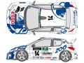 SHUNKO D346 1/24 プジョー 206 WRC 1999 コルス デカールセット (タミヤ対応)【メール便可】